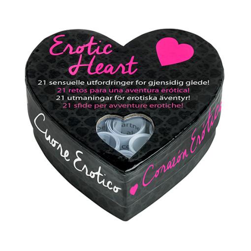 Erotic Heart - Mini hjertespill sort